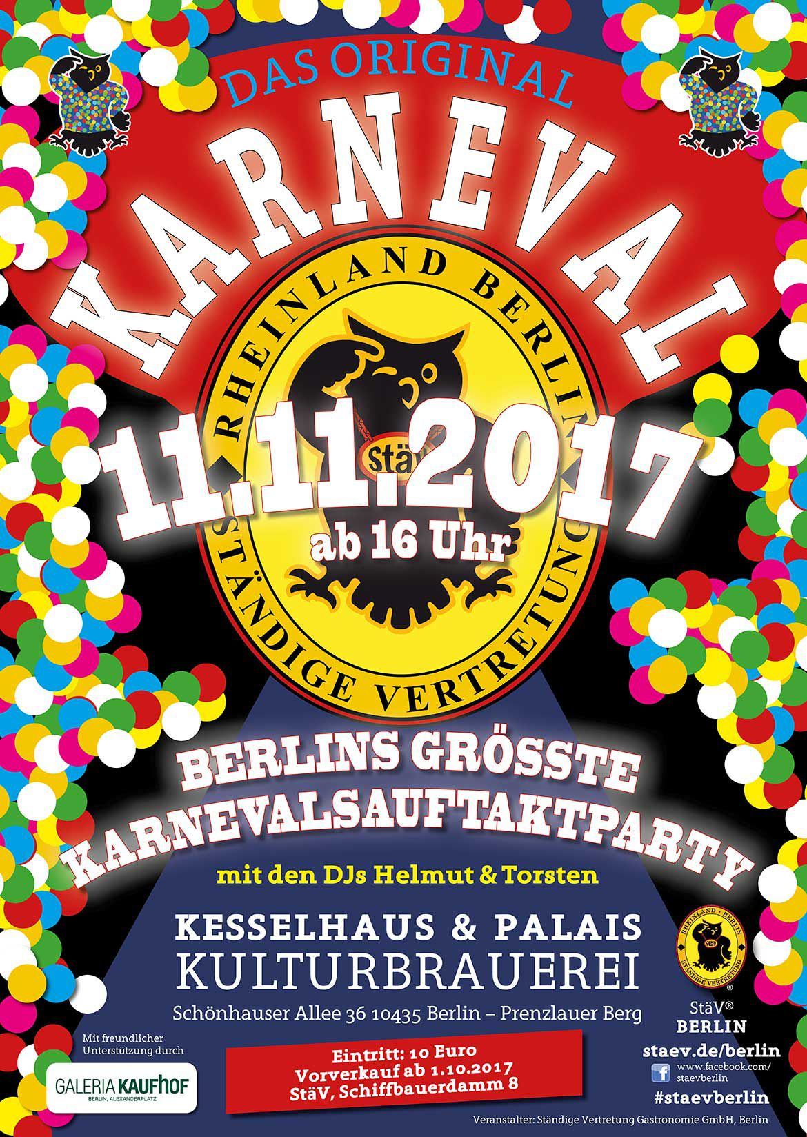 11.11.2017 Karneval in Berlin - Das Original